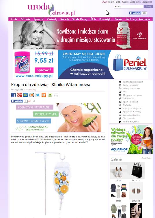 Kropla dla zdrowia – Klinika Witaminowa