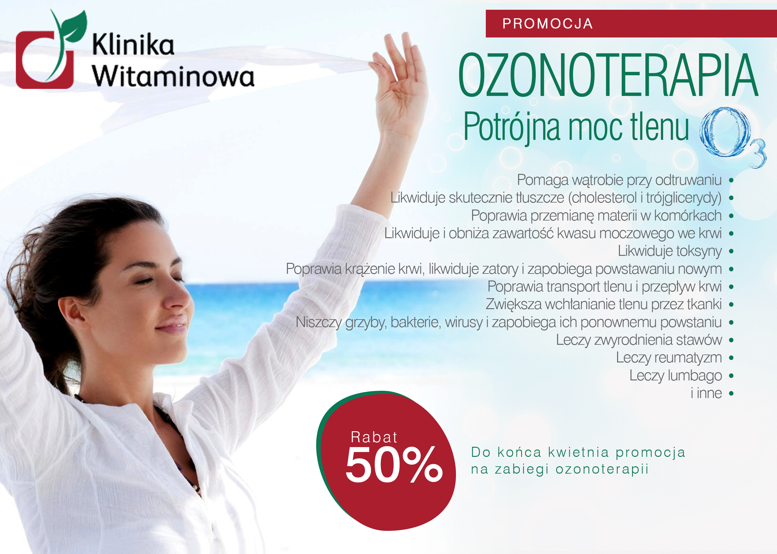 Promocja -50% na Ozonoterapie