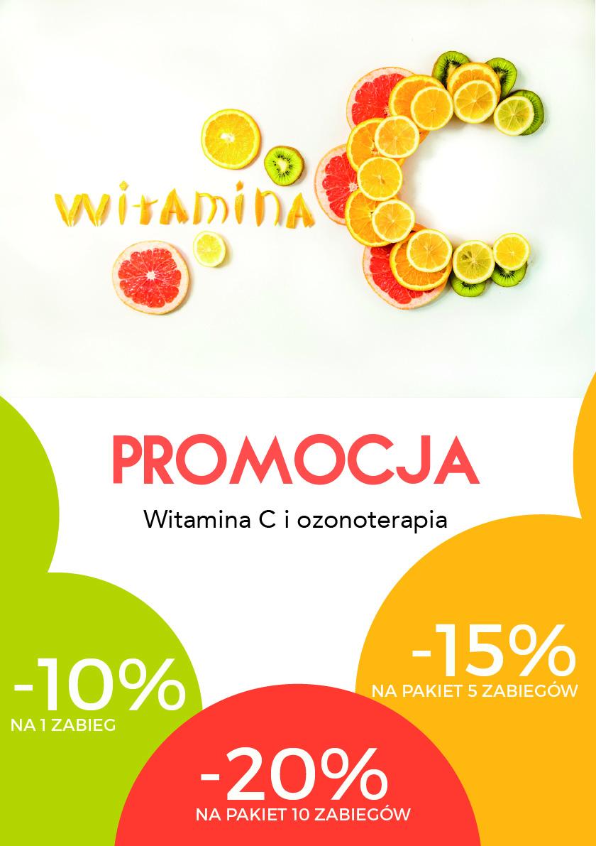 Promocja -20% na Witaminę C i Ozonoterapię